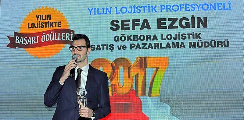 """""""Yılın Lojistik Profesyoneli"""" Gök-Bora Lojistik'ten Sefa Ezgin seçildi"""