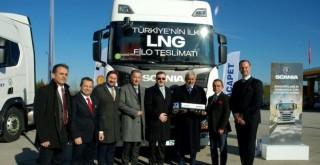 Scania'dan İlk LNG'li Araç Teslimatı
